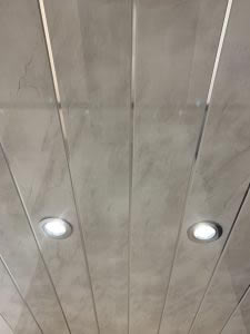 Grey Marble Double Chrome ceiling panels